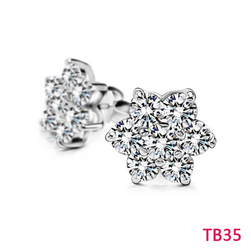 TB35 Hot sale fashion New arrive earring for woman jewelry gold/silver/rose color