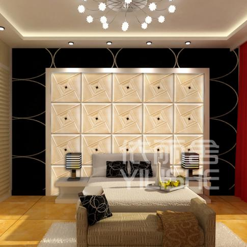 Home Wall Decoration Leather Panels For Bedroom