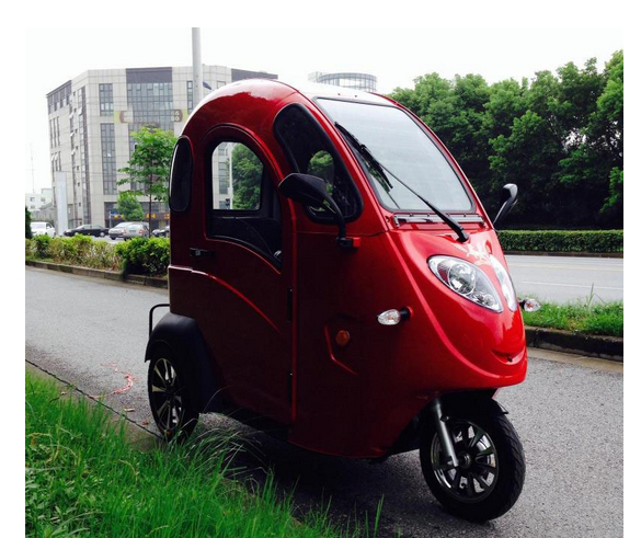 Totally Enclosed Three Wheeled Electric Car Electric