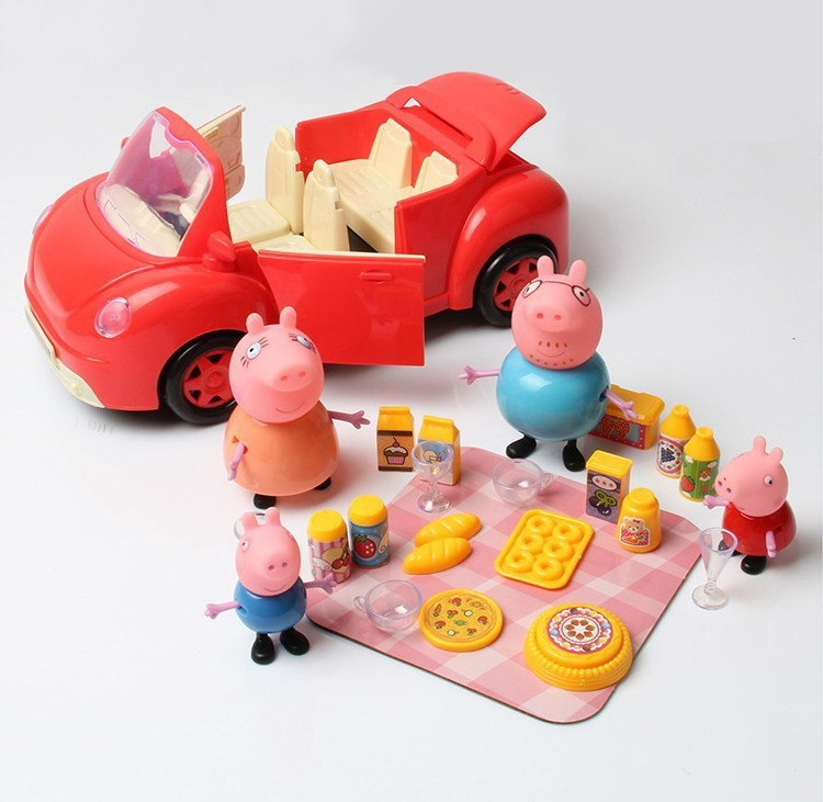 New Pig Toys Playgrounds Set Series Ferris wheel Car Slides Swing Juguetes Pig Family Toy Action Figures Kid Boys girls Gift yks colorful balls perpetual motion revolving ferris wheel desk decor kids toy chriamas gift new sale