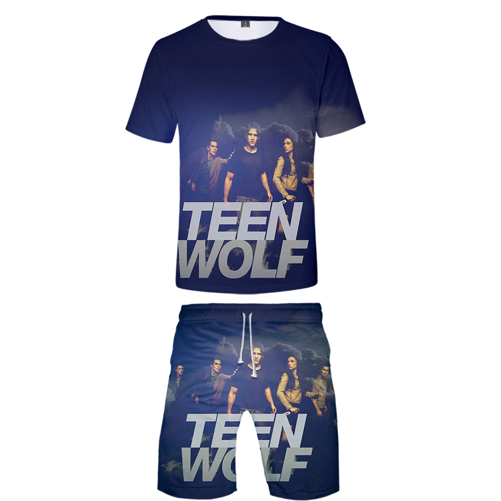 New U.S. Drama Teen Wolf 3D Print T Shirt And Shorts Sets Teen Wolf Child Summer Leisure Clothes