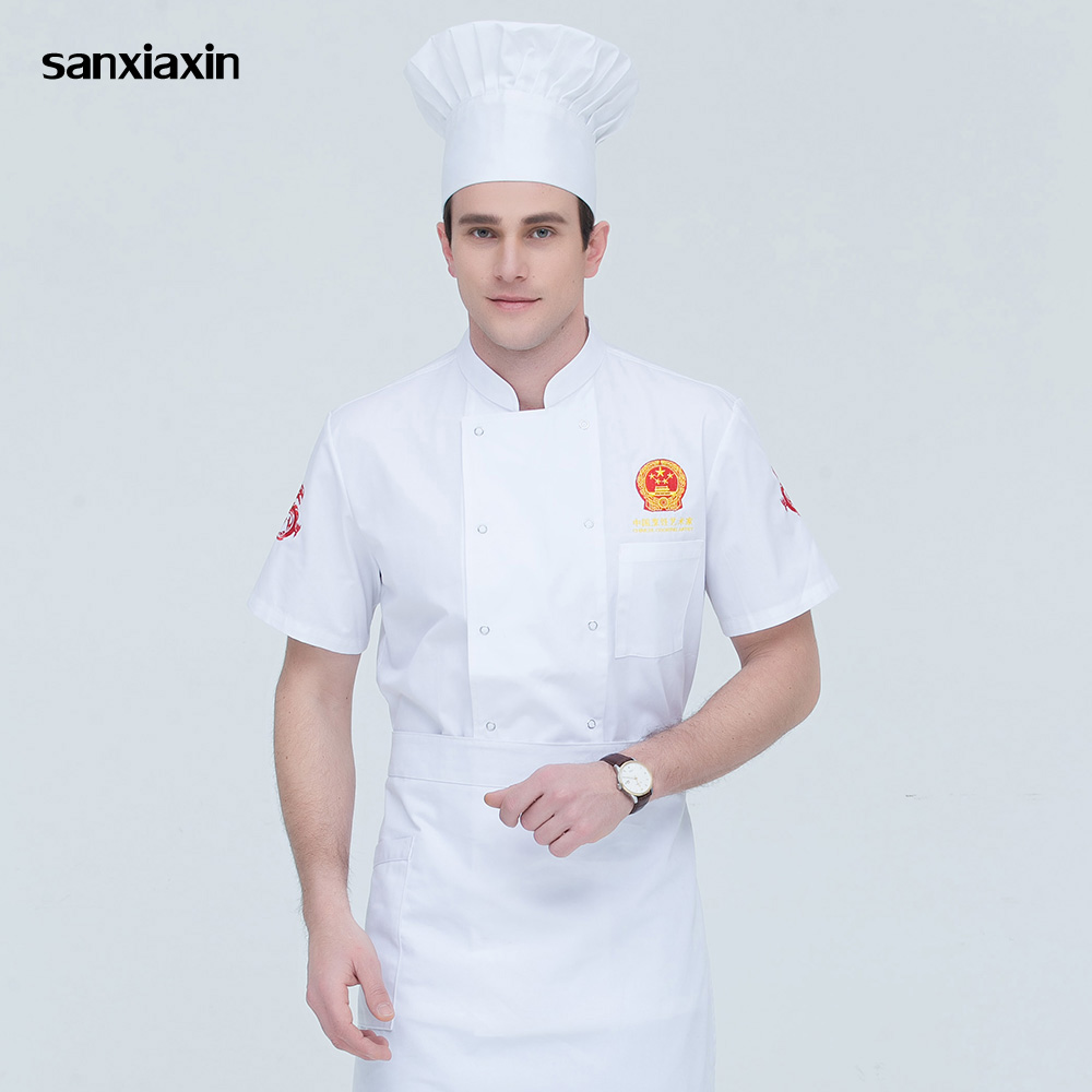Food Service Chef Uniforms Hotel Catering Chef Kitchen Jacket Cooker Work Clothes Unisex Restaurant Uniform Shirts Men Chef New