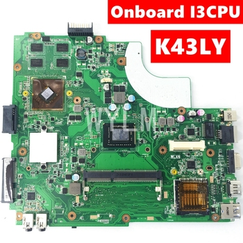 K43LY Motherboard Onboard I3CPU HD6470M 1GB Mainboard For ASUS X84HR K84HR K84LY Laptop Motherboard HM65 DDR3 100% Tested