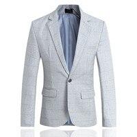 YFFUSHI Người Đàn Ông Phù Hợp Với Áo Khoác Cổ Điển Trắng Sọc Ca Rô Blazer Masculino Áo Khoác Thời Trang Men Casual Slim Fit Coat England Cộng Với 5XL