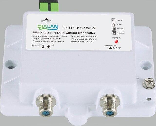 FTTH CATV + STA IF mikro optik verici OTH 2013 10mW 47 2150MHz 1310nm 1550nm tek modlu 12V DC mikro optik verici