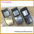 Original Replacement Complete Full Housing Cover Case for Nokia 8800 Sirocco Housing with logo Gold/ Black /Silver
