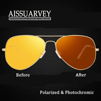 Men Fashion Sunglasses Polarized Photochromic Day Night Vision Glasses Driving Eyewear Classic Light New Polariod Good Quality