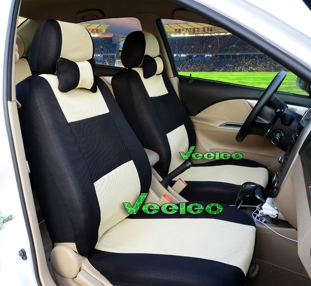 Veeleo Front Rear 7 Colors Car Seat Covers Universal For All TOYOTA