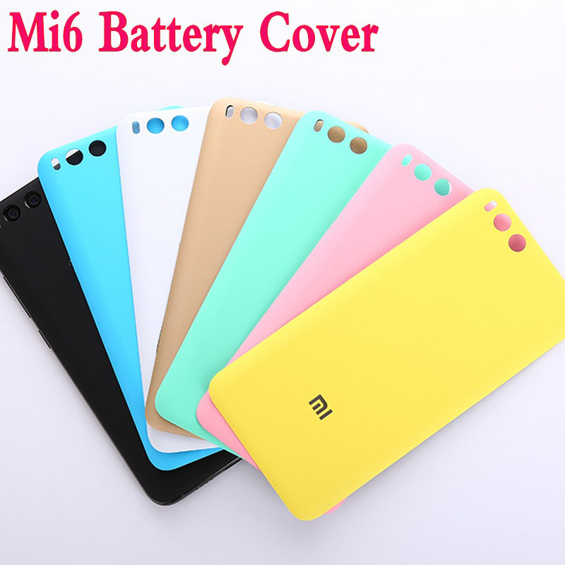 Yeuzoe Fashion Frosted Plastic Battery Back Cover For Xiaomi Mi6 Mi 6 M6 Back Battery Housing Cover Replacement Parts  Xiaomi 6