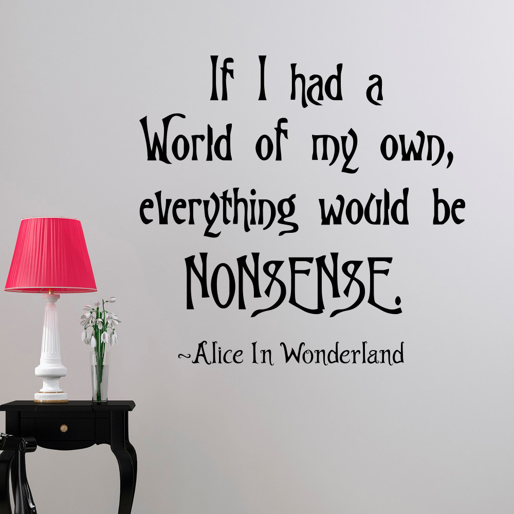 Online Buy Wholesale Alice In Wonderland Wall Decor From China Alice