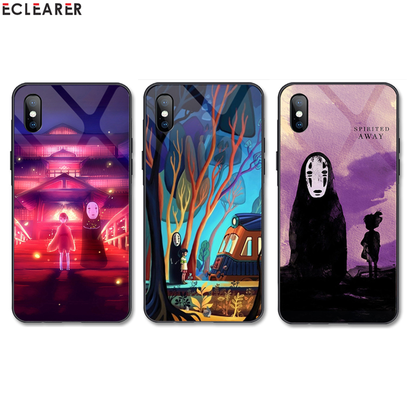 Spirited Away Customized Tempered Glass Phone Case for font b OnePlus b font font b 7