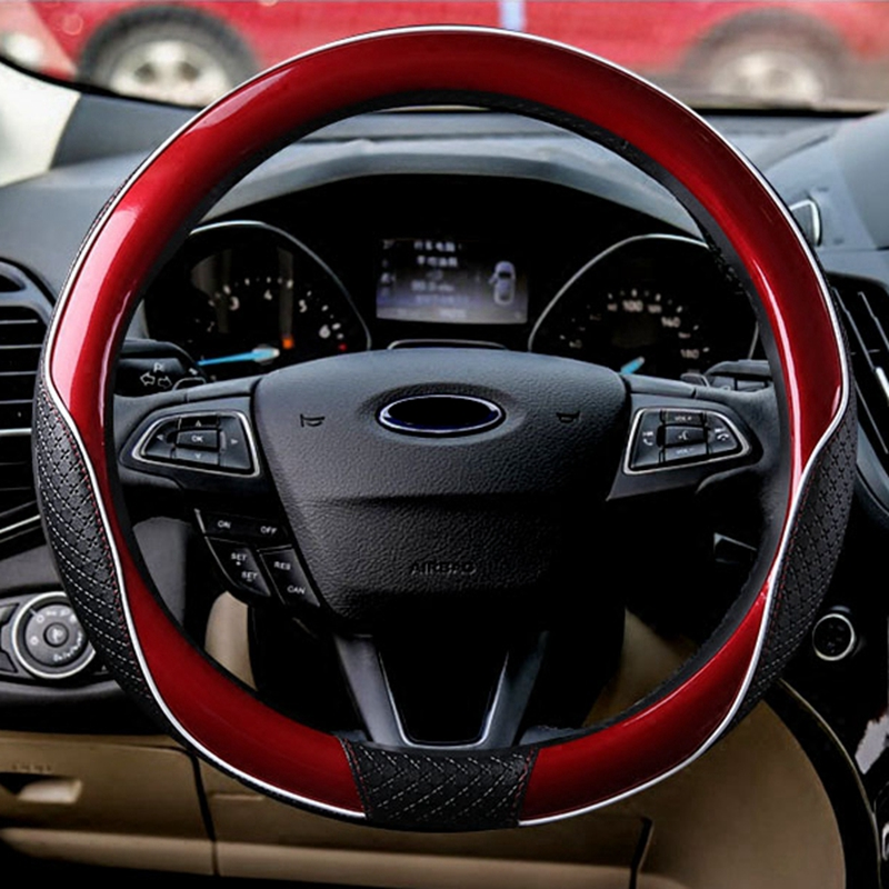 New Leather Steering Wheel Cover Universal 35/36/37/38/39/40cm Protect handle For BMW Ford Focus 2 VW Jeep Grand Cherokee Toyota цена