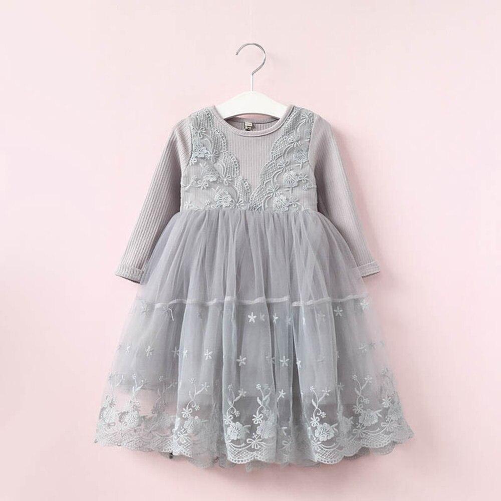 Babyinstar 2018 nuevo vestido de princesa para niñas pequeñas trajes de moda para niños con estampado Floral vestido de encaje para fiesta de niña