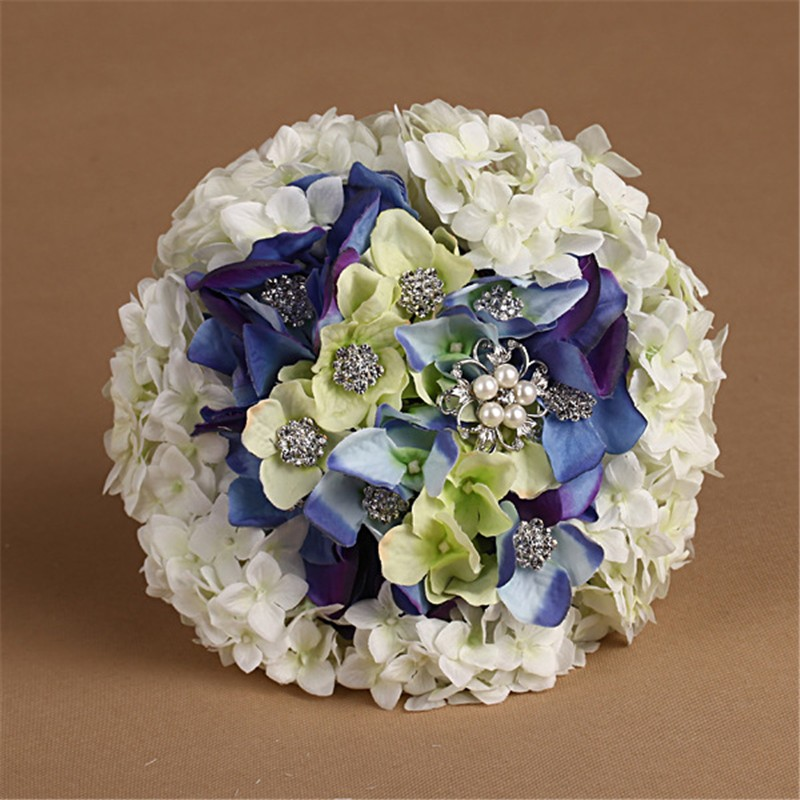 New Artificial Wedding Bouquets Crystal Bridal Bouquet Wedding Bouquet Wedding Flowers Bridal Bouquets Hydrangea Flower Bouquet (7)