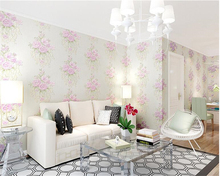 beibehang TV Wallpaper Pasta Big Flower Nonwoven Fabric papel de parede 3d Wallpaper Living Room Sofa Background wall paper цена