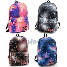 2016 neue unisex galaxy raum bookbag travel satchel rucksack