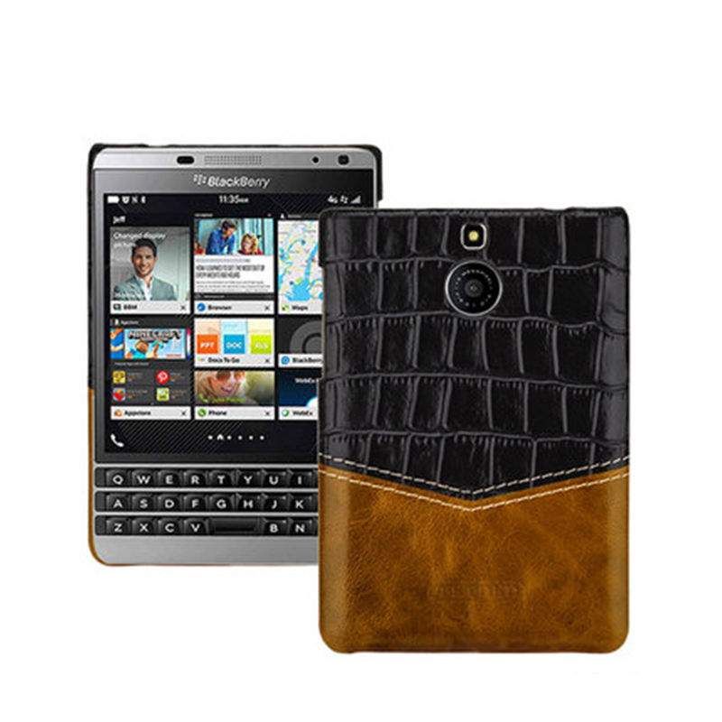 Original Cowhide Genuine Leather Case Cover for Blackberry Passport Silver Edition Back Phone Case for Black Berry Passport 2nd