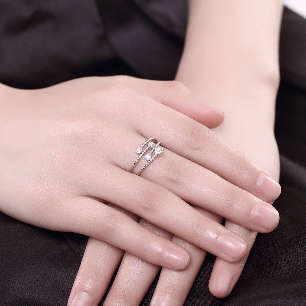 DODO unique Pentagram open ring 100% 925 Sterling silver jewelry ...