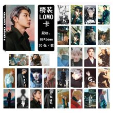 SGDOLL Korea KPOP EXO CHANYEOL Photocard Lomo Card 30Pcs/set New Fashion Readings Card Books 8.8*5.6 cm(China)