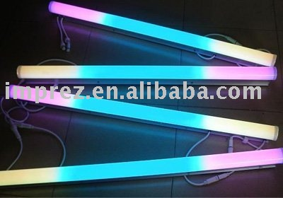 Free shipping 10 pcs a lot LED guardrail tube,LED outdoor tube light,RGB light tube,ac220V auto changing rgb led tube light цена