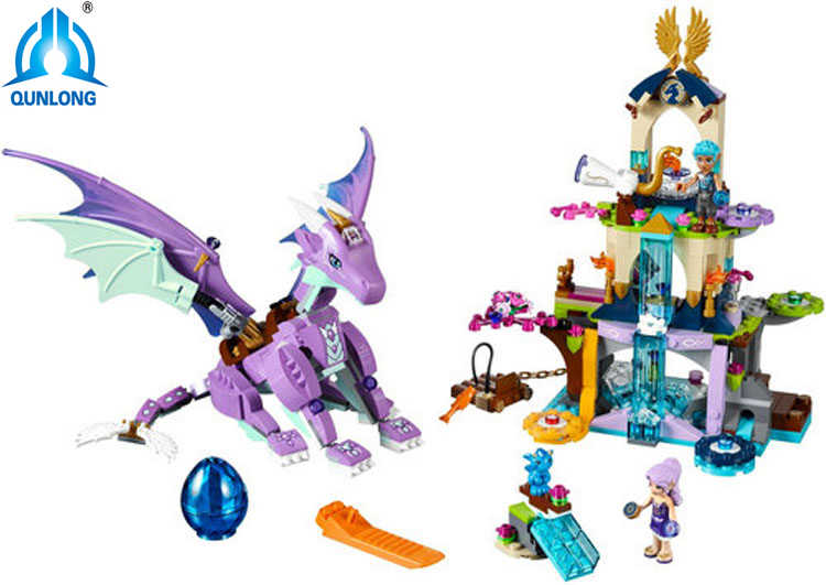 Bela Elves 10549 The Dragon Sanctuary Building Bricks Blocks DIY Educational Toys Compatible with Legoingly 41178 Friends