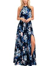 2019 New Yfashion Women Fashionable Bohemian Printing Sleeveless Dress