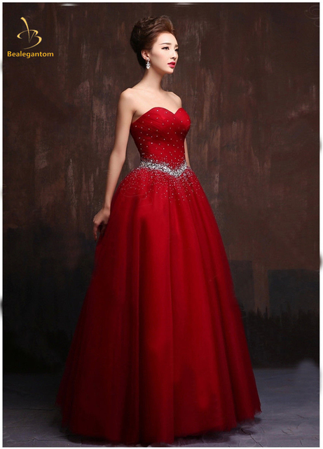 6f383c7ff Bealegantom New Red Ball Gown Quinceanera Dresses 2018 Beaded Sweet ...