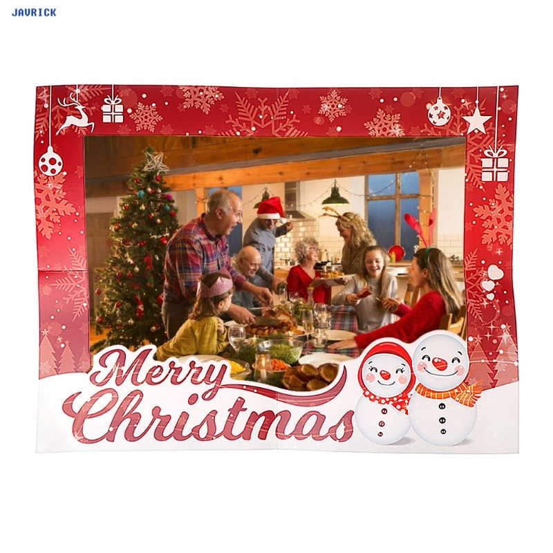 JAVRICK Christmas Style Photo Frame Paper Wall DIY Home Decoration Living Room 47x37cm