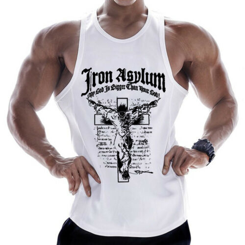 Gym Men Muscle Sleeveless   Tank     Top   Shirt Fashion Hand-Painted Bodybuilding Sport Fitness Vest Summer 2019 Causal   Tops   Tees