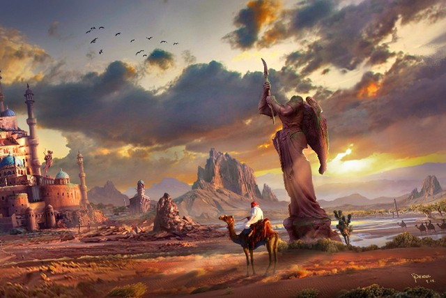 DIY-frame-statue-cacti-art-pursue-ruins-