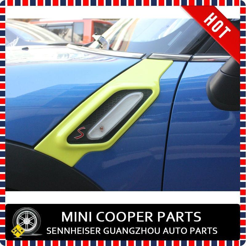 ABS Материал с защитой от ультрафиолетового излучения, чистого желтого золота Цвет стиль mini Ray стороне крышки лампы для R60 mini cooper Countryman S только(2 шт./компл