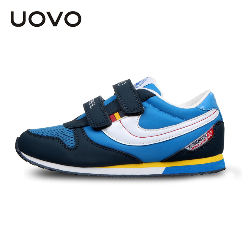 UOVO Colorful Sport Kids Shoes Running Girls Shoes Tenis Infantil Boys Shoes Chaussure Enfant Sneakers uovo 2016 outdoor nonslip boys shoes kids breathable baby children shoes girls shoes tenis infantil chaussure fille size 26 35