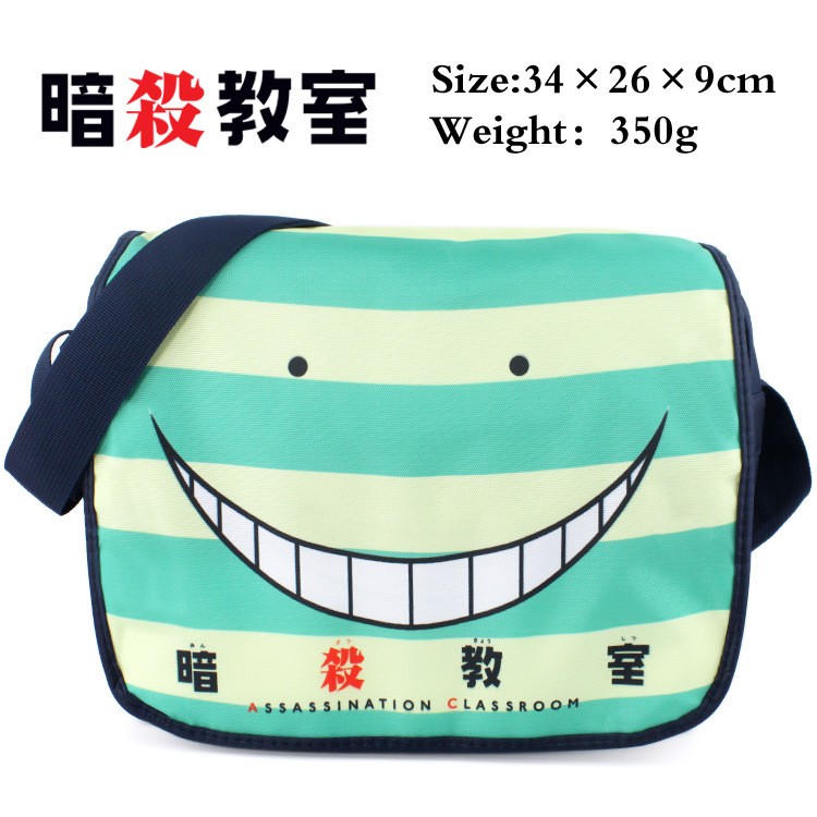 e373d81e0a 2019 Anime Ansatsu Kyoushitsu Korosensei Cosplay Shoulder Messenger Canvas  School Bags Cartoon Handbag