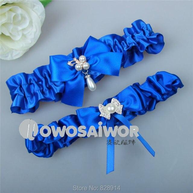 3ff19914aa2 Sexy Fashion Original Design Design Wedding Garter Belt Navy Blue Bridal  Leg Garter Belt Keepsake garter+toss garter HY057