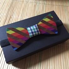 Wooden Bow Tie Vivid