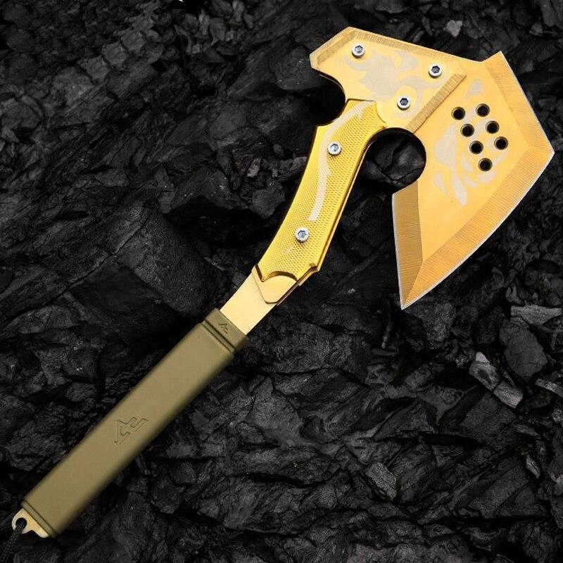 La quatrième génération CF or Rose Tomahawk Camping hache randonnée survie outils à main abattage hache machette hachette glace Poleaxe