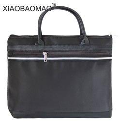 XIAOBAOMAO Leinwand Business Kommerziellen Dokumententasche sitzung Taschen Tote datei ordner Einreichung Tasche Reißverschluss A4 große kapazität