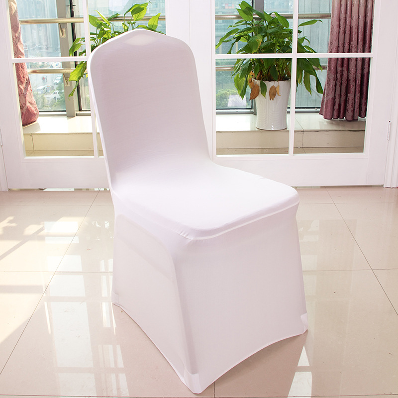 200 Pcs Weddings Party Banquet Hotel Lycra Polyester Fabric Stretch Elastic Universal White Spandex Wedding Chair Covers In Cover From Home Garden