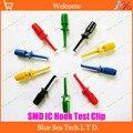 Смешанный цвет отправить мультиметр провод комплект SMD IC крюк Тест Зажим Захваты кабель для щупа сварки (большой размер) пять цветов