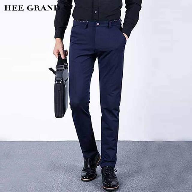 Hee grand homens grossas calças estilo casual mid-cintura alta elasticidade magro cabido corpo inteiro quente acolchoado calças de inverno mkx1079