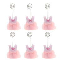 6pcs Baby Party Place Card Holder Baby Clothes Name Table Setting Marker Shop Display Price Tag