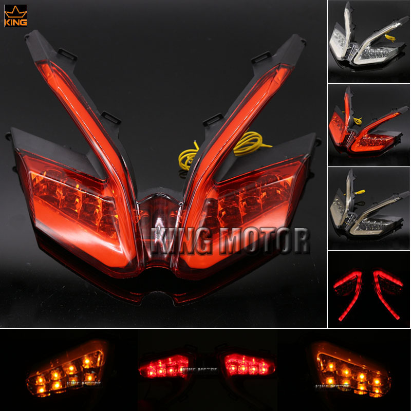 For DUCATI 899 959 1199/S/R 1299 Panigale Motorcycle Accessories Integrated LED Tail Light Turn signal Blinker Lamp Red motorcycle tail tidy fender eliminator registration license plate holder bracket led light for ducati panigale 899 free shipping