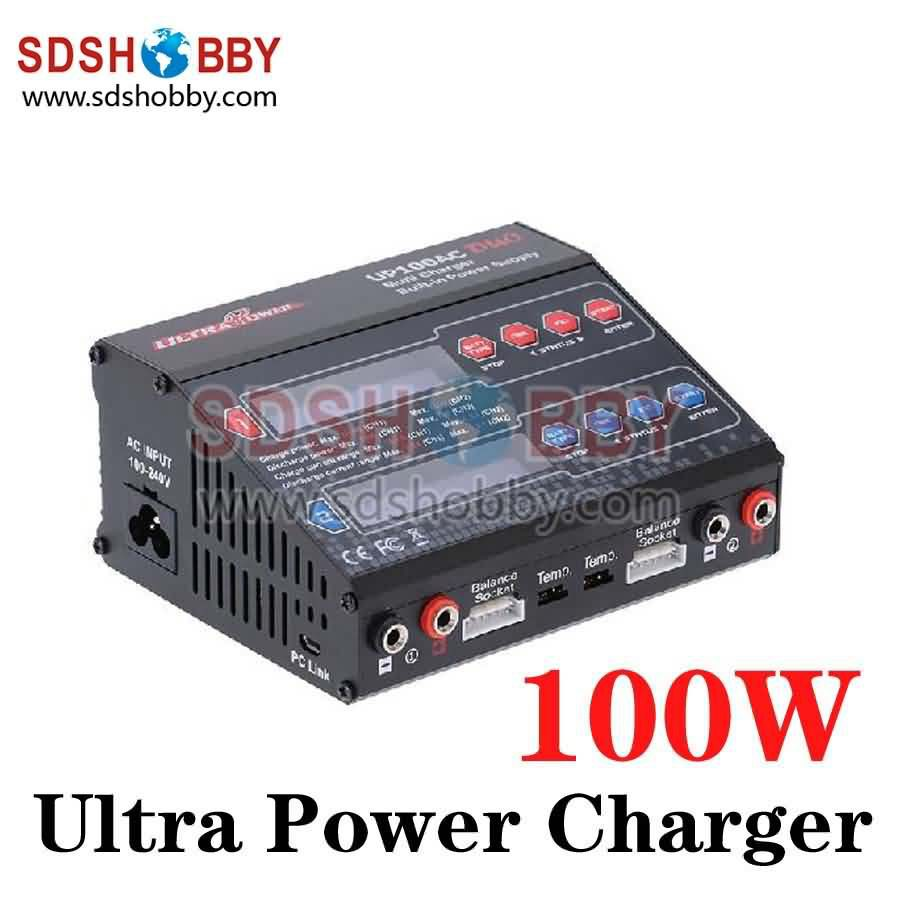 Ultra Power UP100AC DUO Dual Balance Charger 100W 10A Charge 5A Discharge 1 6S NiMH LiPo
