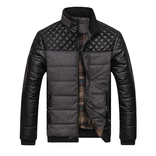 Classic Brand Men Fashion Warm Jackets Plus Size L-4XL Patchwork Plaid Design Young Man Casaul Winter Coats