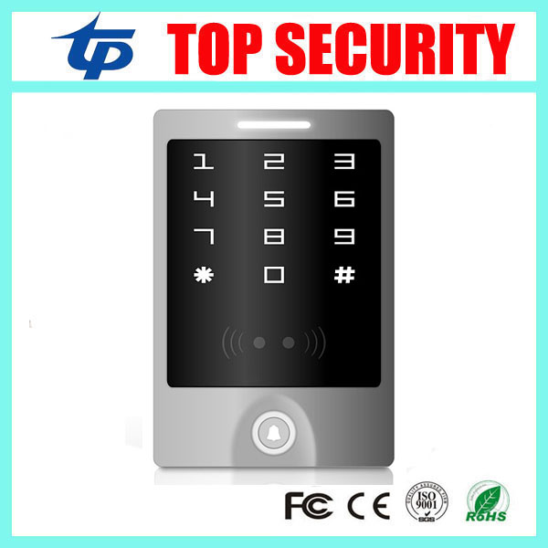 Free shipping smart card access control system 13.56MHZ IC card reader IP65 waterproof access control low cost m07e access control kit without software waterproof card reader card access control device with magnetic lock