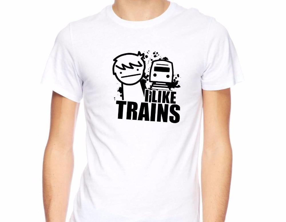 New Men's T Shirt Fashion Unique T Shirts T-Shirt I Like Trains Memes Funny Asdf Inspired Parody Asdf Movie Comic Tee Shirts