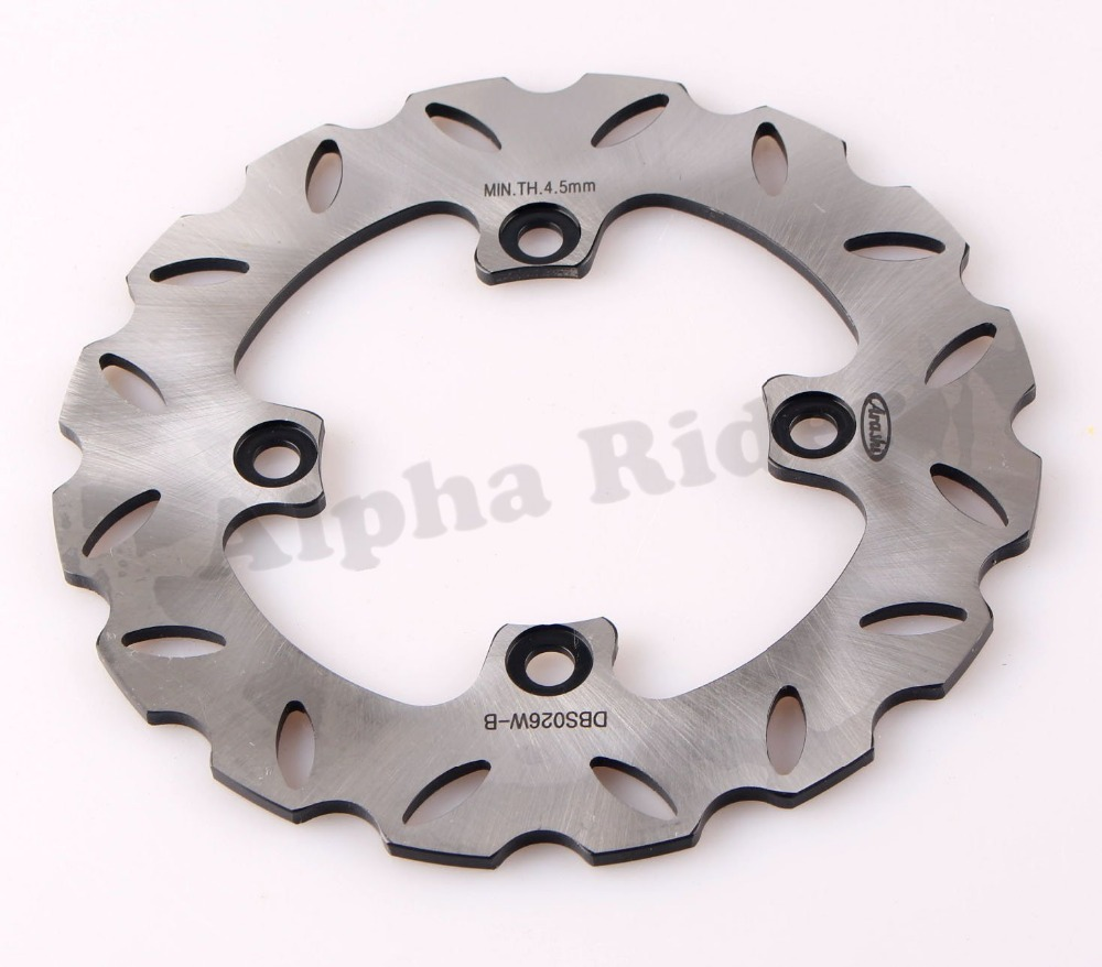 1x Motorcycle Rear Brake Rotor Disc Braking Disk for Kawasaki Ninja 600/636 ZX6R 1998-2012 ER6N/ER6F 2006-2011 ZX10R 2004-2012 1 pcs motorcycle rear brake rotor disc steel braking disk for honda cbr1100xx 1997 2004 xlv1000 varadero abs 2004 2007 2010 2011
