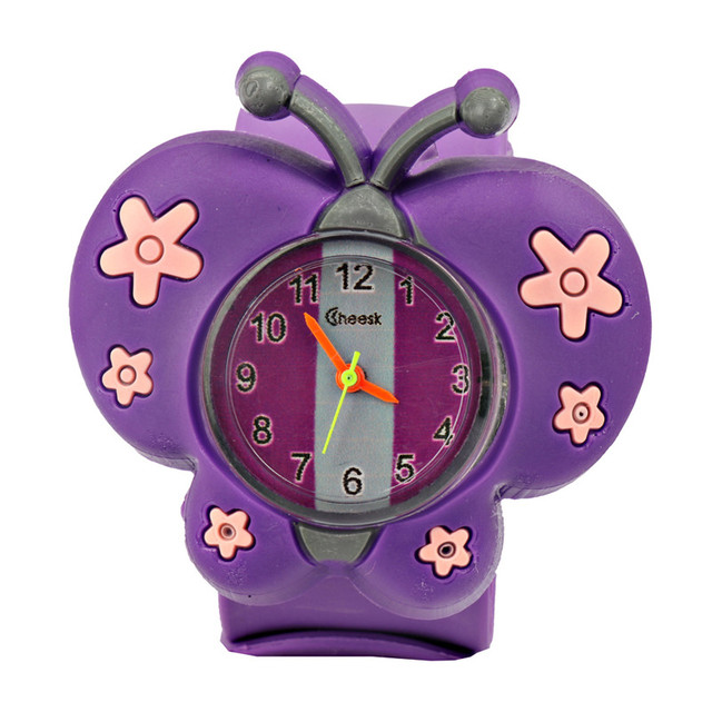 Fashion new children's silicone watch butterfly hand fashion puzzle toys thieves