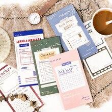 24 hojas Vintage Retro diario para hacer Bloc de notas del Plan, Bloc de notas de papel, Paperlaria, lista de verificación, planificador, cuaderno, papelería