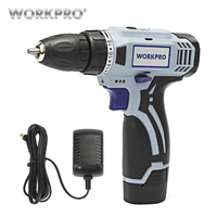 WORKPRO 12V Household Electric Cordless Drill Lithium Ion Battery Cordless Drill DIY Wireless Electric Drill Power Driver Drill